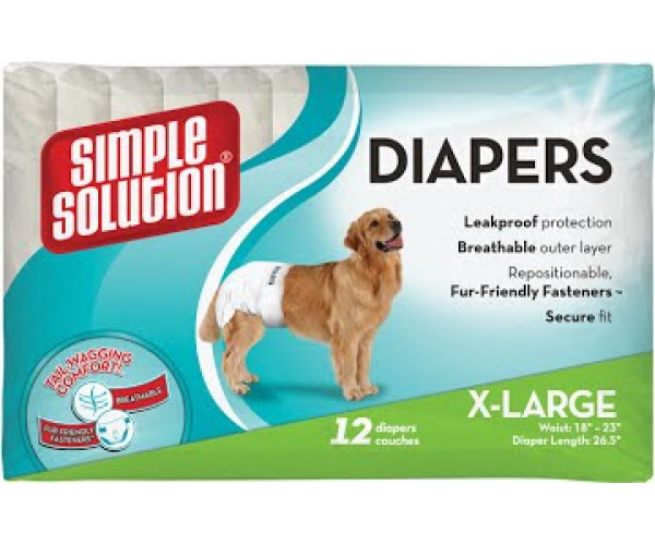 SS Disposable Diapers X- Large (12 p)/гигиенические подгузники для животных большие 12 шт
